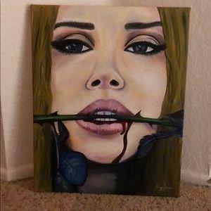Lana Del Rey Authentic Canvas Painting